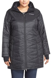 Columbia 'Mighty Lite' Hooded Jacket Plus Size Black