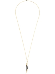 Maiyet Horn Tip Necklace Metallic