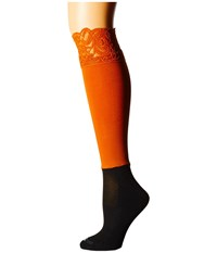 Bootights Lacie Lace Darby Knee High Ankle Sock Burnt Orange Knee High Hose
