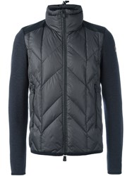 Moncler Grenoble Quilted Zip Up Jacket Grey