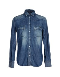 Rare Ra Re Denim Denim Shirts Men Blue