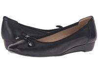 Naturalizer Dove Black Leather Women's Wedge Shoes