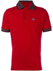 Vivienne Westwood Man Orb Embroidered Polo Shirt