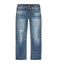 Nudie Jeans Loose Leif Faded Selvage Male Blue