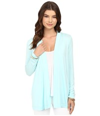 Lilly Pulitzer Blithe Cardigan Pool Blue Women's Sweater