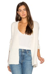 Atm Anthony Thomas Melillo Crochet Trimmed Cardigan Ivory