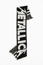 Urban Outfitters Metallica Scarf Black And White