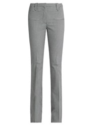 Altuzarra Serge Hound's Tooth Wool Blend Flared Trousers Black White