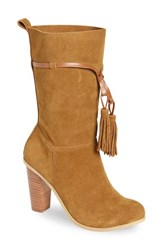 Very Volatile Women's 'Kisa' Tassel Boot Tan Leather