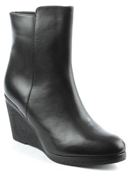 Daniel Viviana High Wedge Ankle Boots Black
