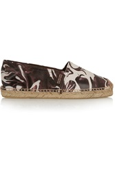 Penelope Chilvers Printed Textured Leather Espadrilles