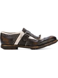 Church's Brogue Detailing Buckle Shoes Brown