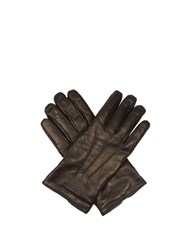 Giorgio Armani Leather Gloves Black
