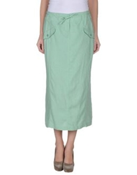 Guess By Marciano 3 4 Length Skirts Light Green