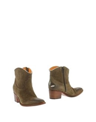 Esseutesse Ankle Boots Military Green