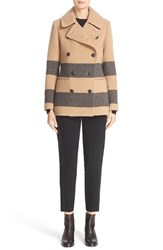 Rag And Bone Women's 'Skye' Stripe Wool Blend Peacoat