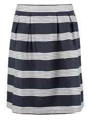 More And More Pleated Skirt Marine Dark Blue