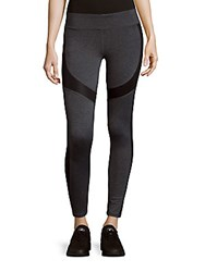 Andrew Marc New York Contrast Panel Stretch Leggings Black