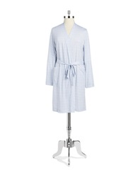 Lord And Taylor Cotton Patterned Robe Grey