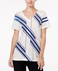 Tommy Hilfiger Violet Printed T Shirt Snow White Print