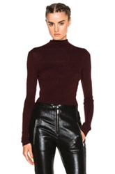 Isabel Marant Zasha Thin Ribbed Knit Sweater In Red