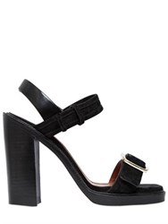 Givenchy 120Mm Suede Buckled Sandals