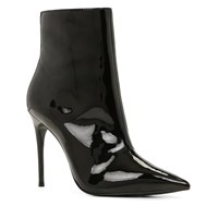 Aldo Areicia High Heel Pointy Toe Ankle Boots Black Patent