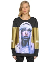 Hba Hood By Air Fortunato Print Cotton Sweatshirt