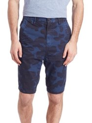 G Star Bronson Tapered Camouflage Print Shorts Sapphire