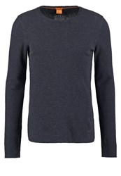 Boss Orange Terris Slim Fit Long Sleeved Top Dark Blue