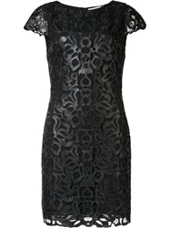 Alice Olivia 'Penni' Faux Leather Dress Black