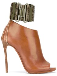 Dsquared2 'Military' Heeled Sandals Brown