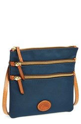 Dooney And Bourke Triple Zip Nylon Crossbody Bag Blue Navy