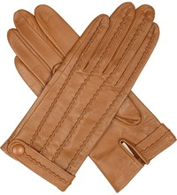 Dents Stitch Detail Leather Gloves Sycamore