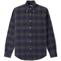 Gitman Brothers Vintage Indigo Check Flannel Shirt Green