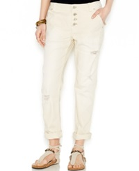 Free People Distressed Mountaineer Jeans Colored Wash
