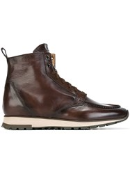 Santoni Lace Up Boots Brown