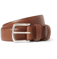 A.P.C. 3Cm Brown Jeremy Leather Belt Brown