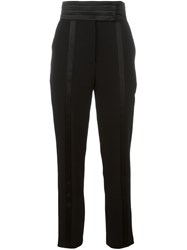 Ungaro Emanuel High Waisted Tailored Trousers Black
