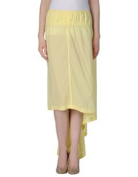 Auto Autocouture Knee Length Skirts Yellow