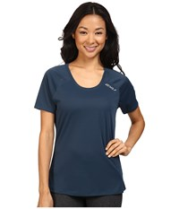 2Xu Tech Vent Short Sleeve Top Ombre Blue Ombre Blue Women's Clothing