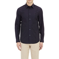 Faconnable Profile Sketch Poplin Shirt Navy