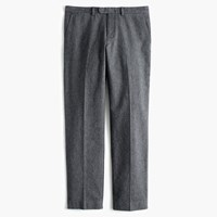 J.Crew Bowery Classic Pant In Brushed Cotton Twill Charcoal Canvas