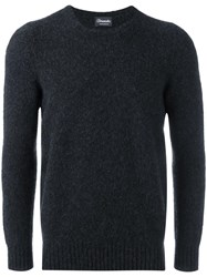Drumohr Classic Crew Neck Sweater Black