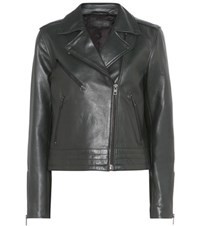 Rag And Bone Mercer Leather Jacket Green