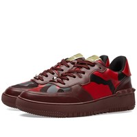 Valentino Rock Be Low Top Sneaker Red Camouflage
