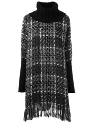 Dolce And Gabbana Checked Knitted Tunic Grey