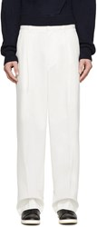 3.1 Phillip Lim Ivory Pleated Wide Leg Trousers