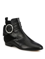 Iro Omel Buckle Leather And Suede Booties Black