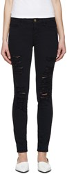 Frame Denim Navy Le Color Ripped Jeans